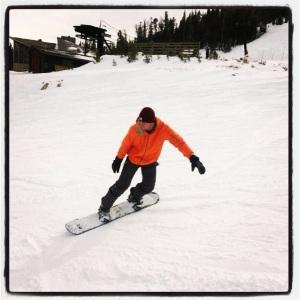 student snow board