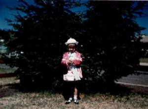 Keri in Easter Dress at 4 Years Old
