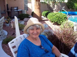 My mother on Memorial Day 2008